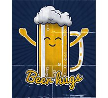 Beer Hugs Photographic Print