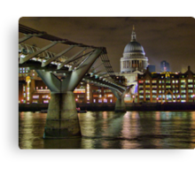 The Millenium Bridge and St Pauls Canvas Print