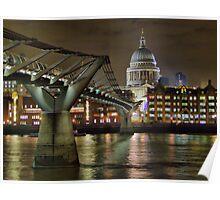 The Millenium Bridge and St Pauls Poster