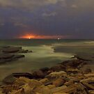 Moonrise over Turimetta beach NSW by Doug Cliff