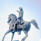 George Washington On His Horse  by Arteffecting