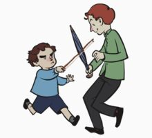 Kid Sherlock and Mycroft by Abitto