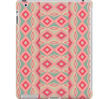 Girly Retro Turquoise Red Geometric Diamond shapes iPad Case/Skin