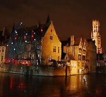 Bruges Canal By Night by Richard Nelson