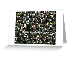 110612 367 dry soccer puzzle s Greeting Card