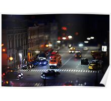crosswalk at night Poster