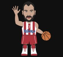 NBAToon of Vassilis Spanoulis, player of Olympiacos, Olympiakos by D4RK0