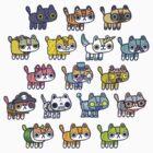 Assorted Hackycats by hackycat