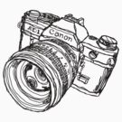 Canon AE-1 Illustration T-shirt by strayfoto
