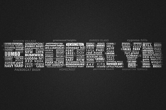 Brooklyn New York Typography Word by icoNYC