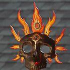 Fire Calavera-paper mache by Diegomrios
