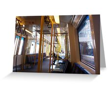 Newspaper On The Train - Two - 27 03 13 Greeting Card