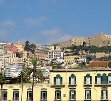Naples colorful city view by kirilart