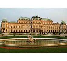 Belvedere Palace in Vienna Photographic Print