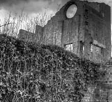 Blast Furnace, Lithgow - black and white by Mandy  Harvey