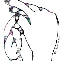 2 hands -(010413)- Digital art/mouse drawn/Program: The Scribbler by paulramnora