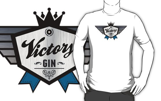 Victory Gin - Nineteen Eighty-Four George Orwell by LookOutBelow