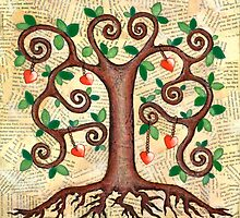 Tree of Hearts by Lisa Frances Judd ~ QuirkyHappyArt