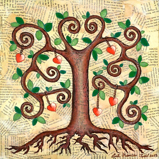 Tree of Hearts by Lisa Frances Judd~QuirkyHappyArt