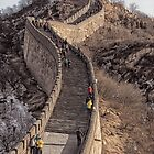 Great wall of China. by Lyn Darlington
