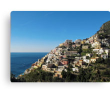 Positano on Amalfi Coast Canvas Print