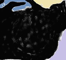 Cat, playing -(010413)- Digital art/mouse drawn. Program: Sketchy by paulramnora