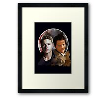 Cas & Dean Framed Print