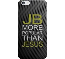 Justin Bieber iPhone case- JB is more popular than jesus iPhone Case/Skin