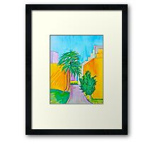 Downtown Los Angels Alleyway Framed Print