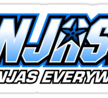 Ninjas. Ninjas EVERYWHERE. Sticker