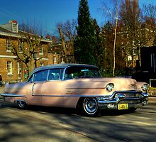 Pink Caddy  by larry flewers