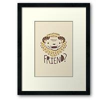 Friendly Beast Framed Print