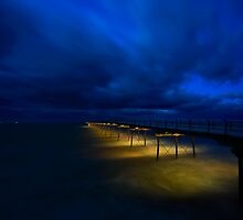 Saltburn Pier - Yellow & Blue by PaulBradley