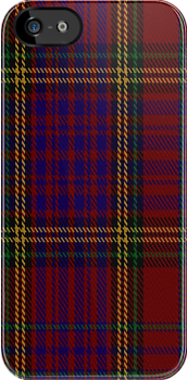 01570 Anderson of Kinnedear Red Tartan Fabric Print Iphone Case by Detnecs2013