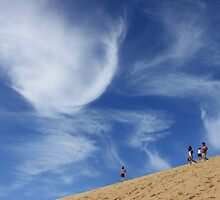 Sky and sand dune - Fraser Island 2011 by jackibrown