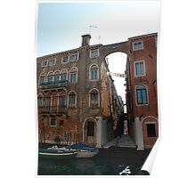 Arched Backstreet, Venice Poster