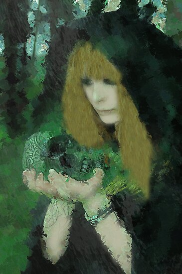 Elemental - Celtic Ritual Fantasy Expressionism by Galen Valle