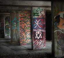 Grafitti Pillars by Linda  Morrison