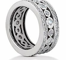 Eternity bands and eternity wedding rings by weddingbands25
