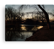 Crossing the Big Sioux River Canvas Print