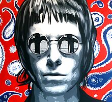 Liam Gallagher paisley pattern by thepurposemaker