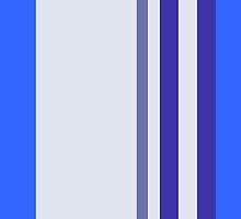 Blue Stripes by CanoeComsArt