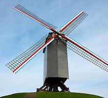 Windmill in Bruges Belgium by kirilart