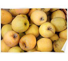 Golden Apples in a Basket Poster