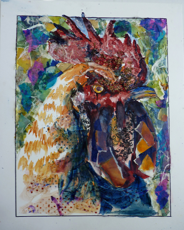 Patchwork Rooster by twopoots