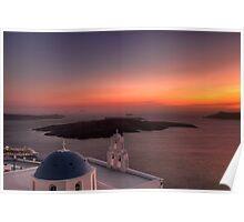 Santorini, Greece Poster