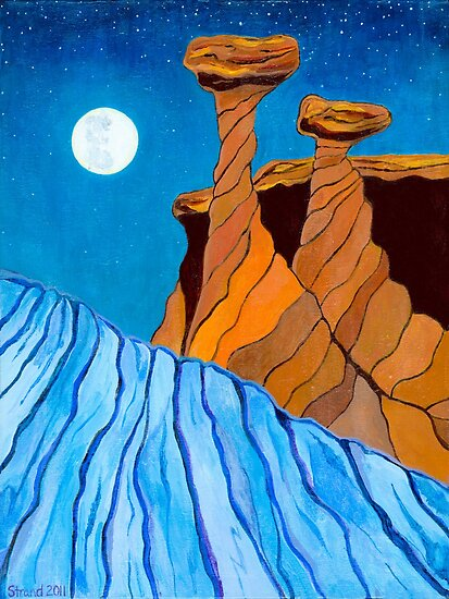 Utah Moon by Barbara  Strand