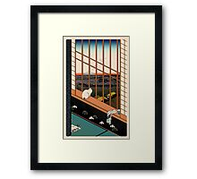 Asakusa Ricefields pixel colour Framed Print