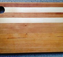 Cherry + Maple Cutting Board by Robert's Woodworking Studio