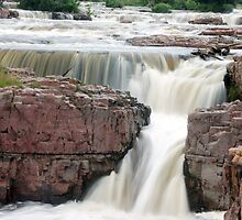Waterfall Sioux Falls South Dakota by Tina Hailey
